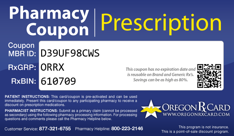 Oregon Rx Card - Free Prescription Drug Coupon Card